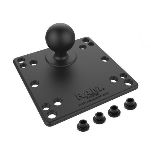 "RAM Mounts 100x100mm VESA Plate with 1,5"" Ball"