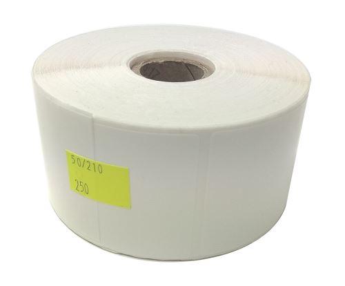 Etiketa na kotouči 50x210mm, plastová (PE)