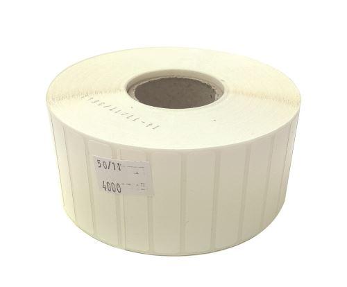 Plastiketikett auf einer Rolle 50x11mm, (PE), starker Kleber SYNTYRE