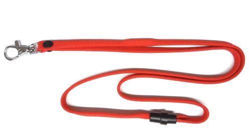 UHF RFID šňůrka na krk, červená, kovová karabina