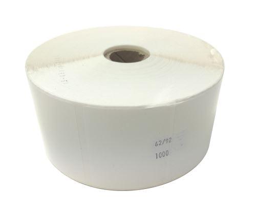 Plastiketikett auf einer Rolle 62x92mm, (PE)