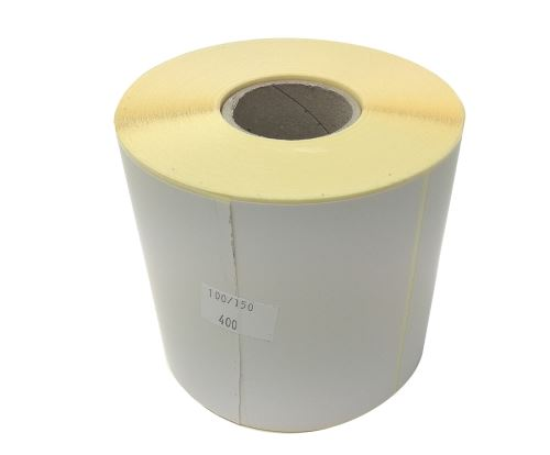 Papieretikett auf einer Rolle 100x50mm