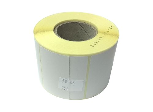 Adhesive paper thermolabels 58x43mm