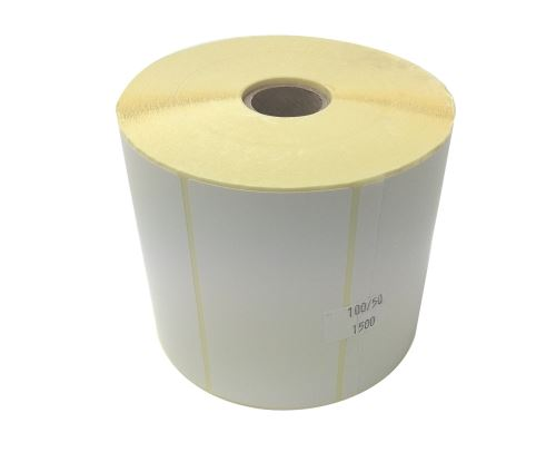 Adhesive paper labels 100x50mm, price per 1000pc (2000pc/roll)