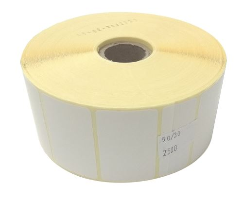 Adhesive paper labels 50x30mm