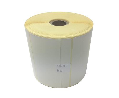 Papieretikett auf einer Rolle100x70mm