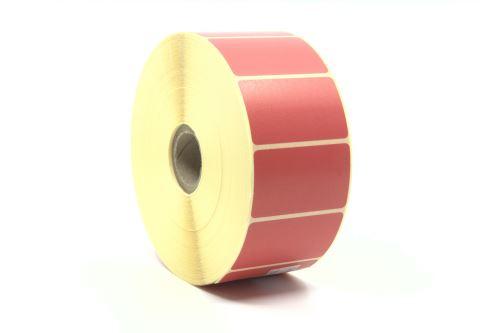 Papieretikett 50x30mm, rote Farbe